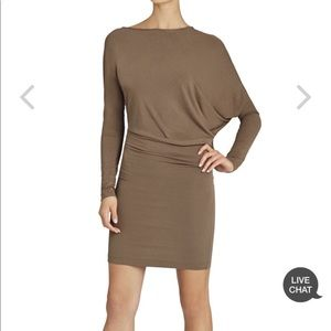 NWT BCBG Laheld long sleeve side draped dress